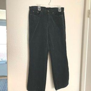 Venezia Womens Sz 14 Avg Black Corduroy Pants Stra